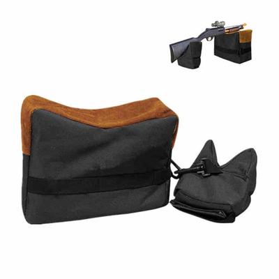 Black Gun Rest Bags, Unfilled Front Rear Dead Shot Sand Bag for Rifle Hunting