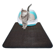 Lightweight Black Cat Litter Trapper Mat Non-slip
