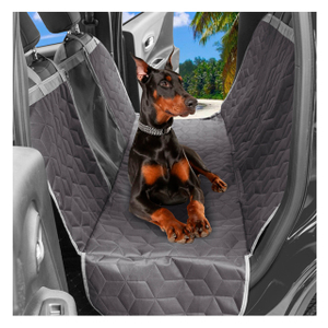 Quilted Pet Dog Hammock Car Seat Cover with Side Flaps for Car And SUV
