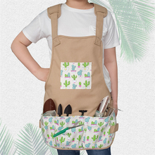 Garden Apron Tool Apron with Pockets Adjustable Neck And Waist Straps