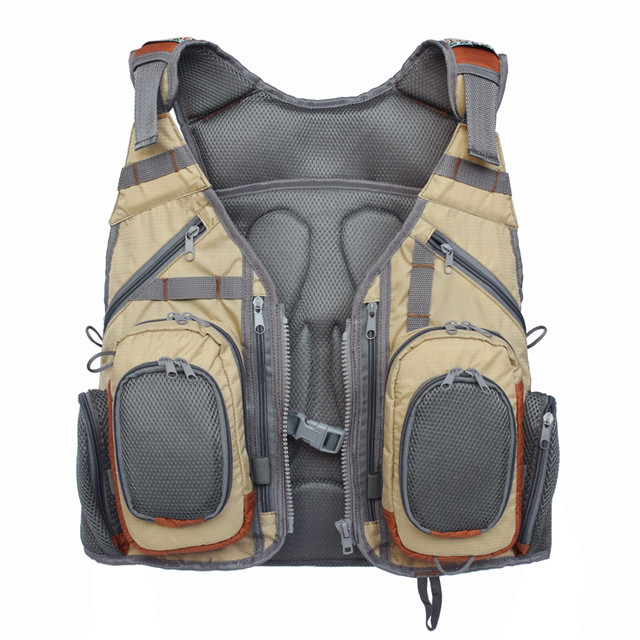 Polyester Fishing Vest Adjustable Size with Breathable Mesh