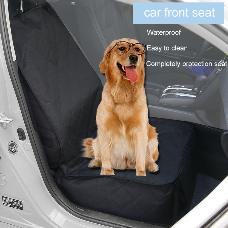 Universal Fit 100% Waterproof Full Protection Dog Car Front Seat Cover with Side Flaps for Pets with Pocket And Non-slip Backing