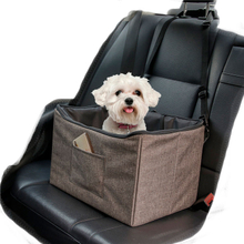 Deluxe Portable Collapsible Pet Dog Car Seat Booster with 2 Safety Leashes for Summer and Winter