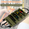 Multi-Purpose Oxford Hanging Tool Wrench Roll Up Holder Pouch Bag Organizer Bucket Zipper Carrier Tote Car Back Seat Storage