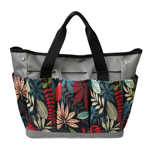 Multi-function Flower Color Oxford Plant Ladies Garden Tool Storage Organizer Tote Bag