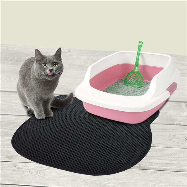 Cat Litter Mat Double-Layer Cat Litter Trapper with Waterproof Base Layer ECO-Friendly Light Weight EVA Foam