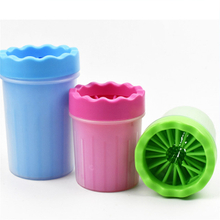 Portable Silicone Pet Cleaning Brush Cup Dog Foot Cleaner