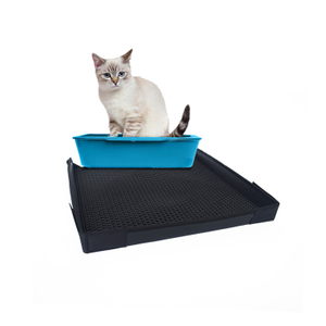 High Quality Waterproof Double Layer Honeycomb Design Cat Litter Mat With Fence