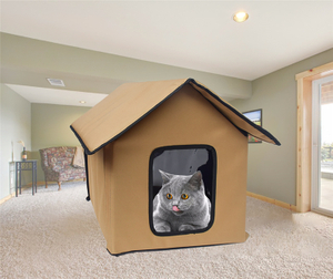 Collapsible Portable Foldable Cat House for Outdoor Indoor