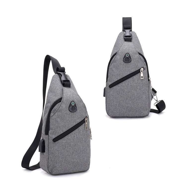 Anti Theft Crossbody Sling Bag with USB Charging Port and Headphone Hole