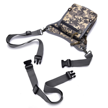 Heavy Duty Nylon Waterproof Outdoor Camo Multi-function Tactical Waist Bag with Shoulder Sling and Leg Strap