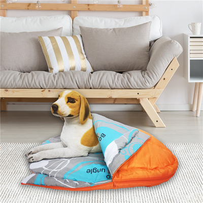 Travel Camping Dog Cat Sleeping Bag with Polyester Carry Bag