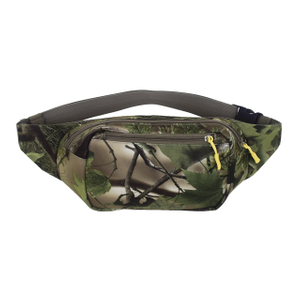 Outdoor Green Flannel Camouflage Waist Bag for Hunting, Riding, Running